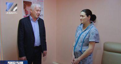 Женщина, родившая 7 января, принимает поздравления