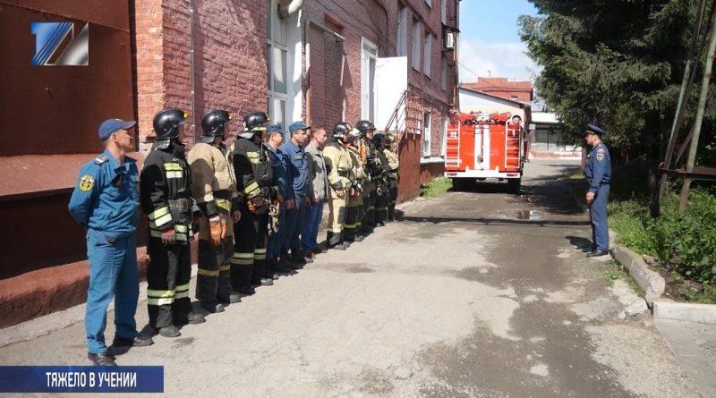 Пожарные учения на заводе «Славянка»