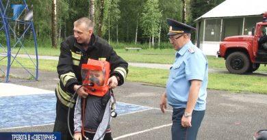 Пожарные учения в детском лагере «Светлячок»