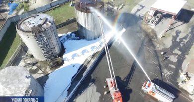 Плановые пожарные учения на складе ГСМ
