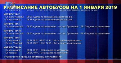 Расписание движения автобусов в праздничные дни