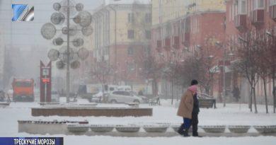 На юг Сибири надвигаются трескучие морозы