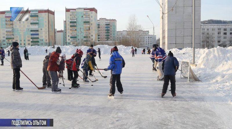 Хоккеисты и фигуристы поделились опытом с горожанами